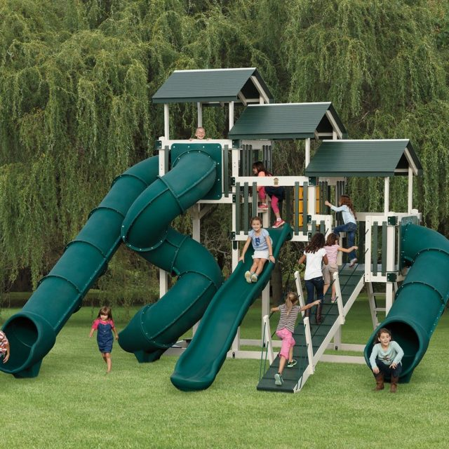Vinyl playsets and vinyl swing sets for kids from Adventure World Playsets