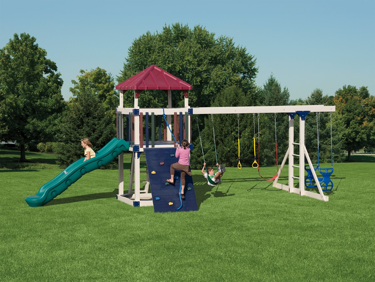 Kids Swing Sets Maintenance Free Vinyl Outdoor Playsets
