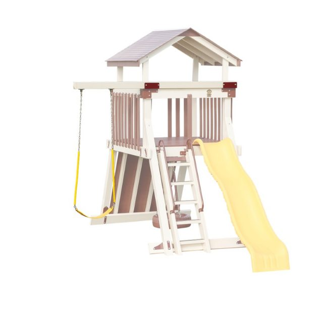 Custom accessory arms for play sets and swing sets
