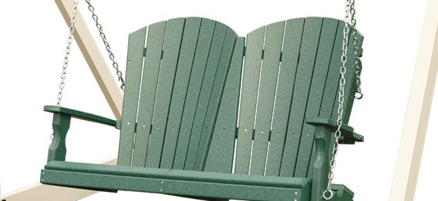 Vinyl loveseats and love seat swings for sale from Adventure World Playsets