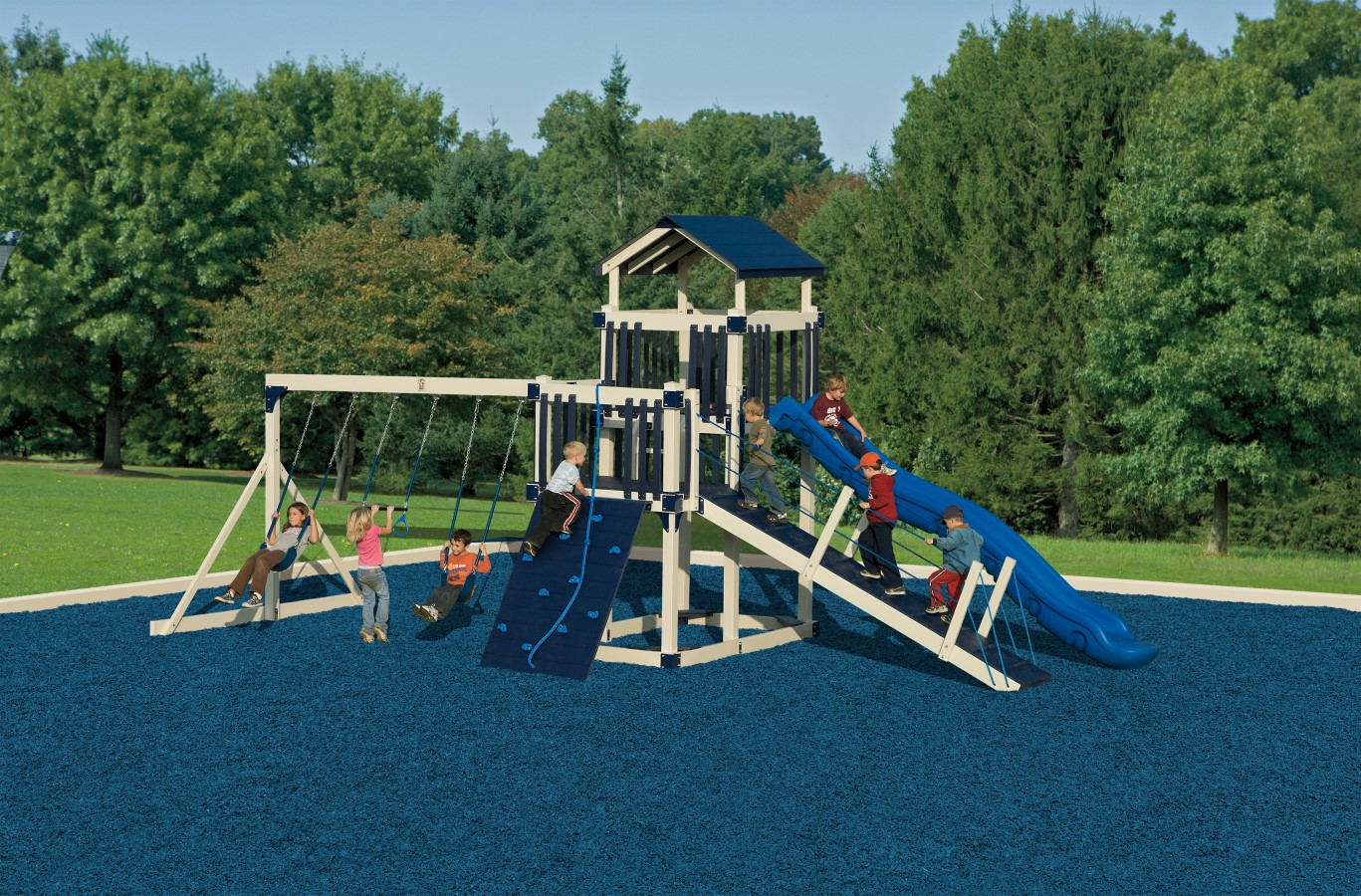 Discovery depot playset package with bridge d59 3 for Swing set bridge