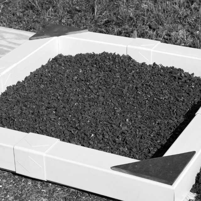 colors offered are green black red blue and brown red rubber mulch - Black Rubber Mulch