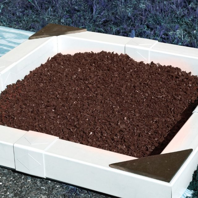 recycled rubber mulch makes your child's swing set or play set even safer.