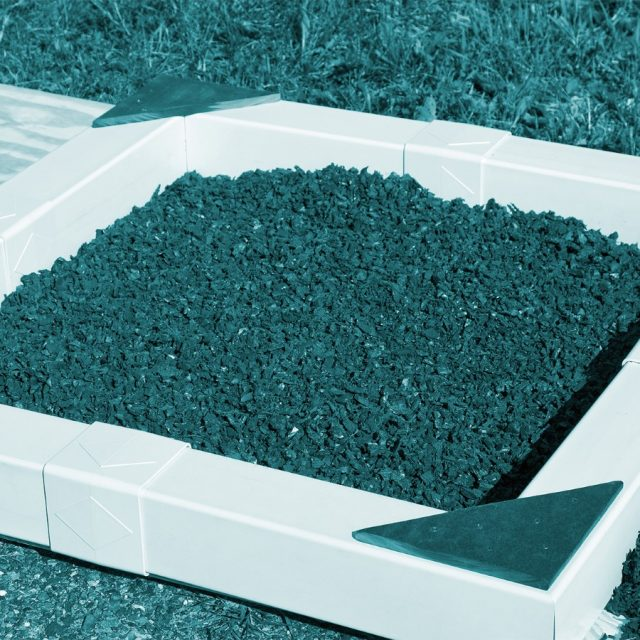 Teal rubber mulch from Adventure World Play Sets