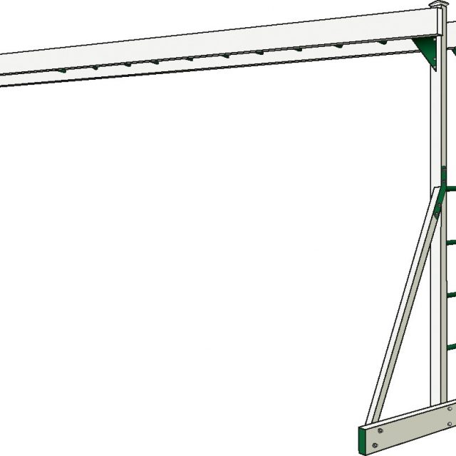 Monkey Bar Overhead climber, a custom swing set beam option from Adventure World Playsets