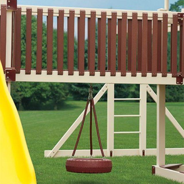 adventure world playsets tire swing under bridge playset option