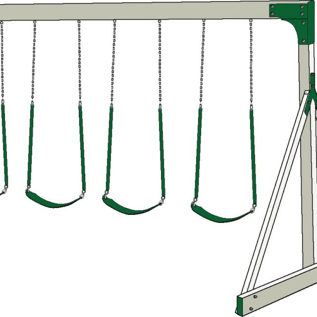 4 Position Swing Beam for a swing set a custom swing set beam option from Adventure World Playsets