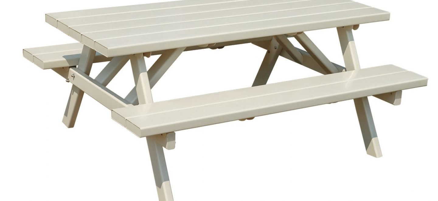 White Vinyl Picnic Tables Adventure World Playsets - Long picnic table for sale