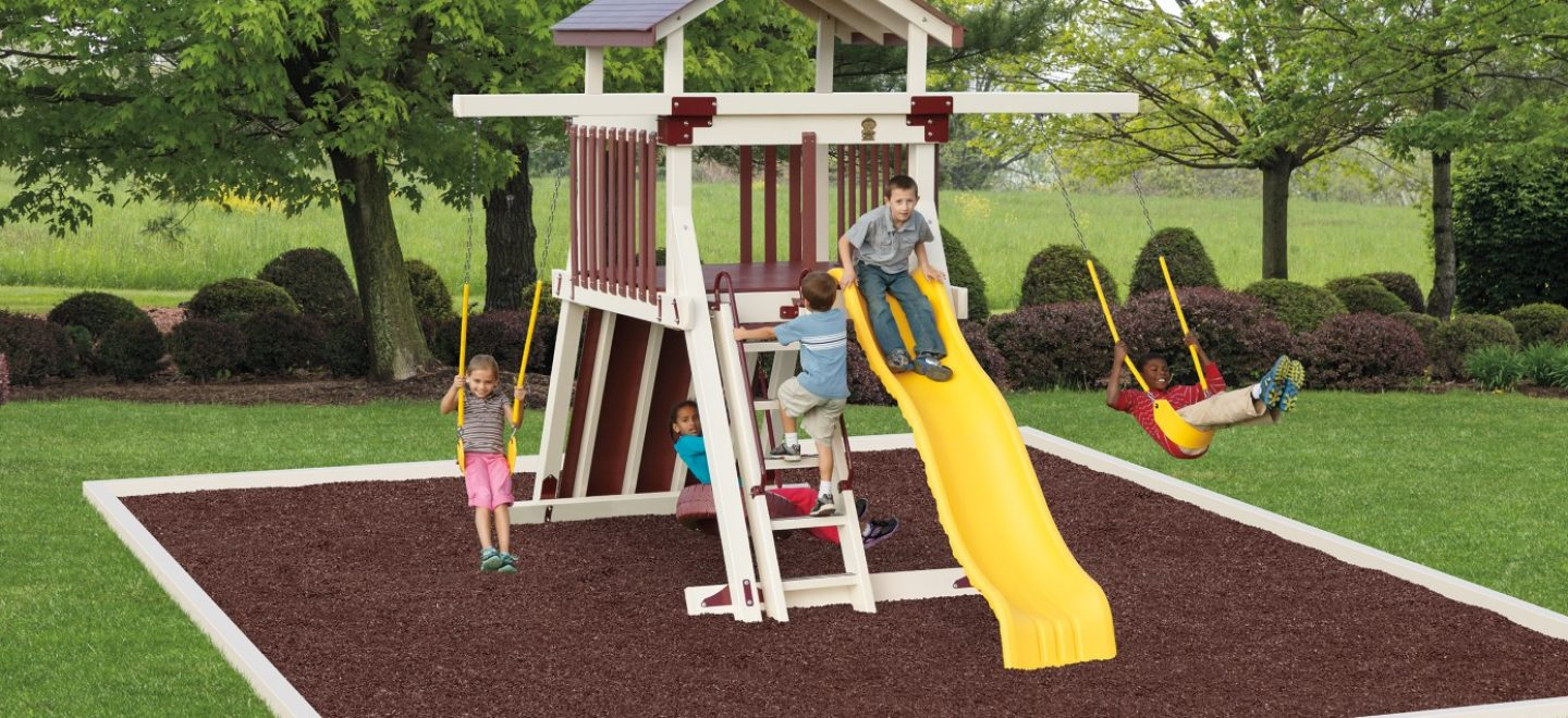 Giggle junction kids swing set from adventure world playsets