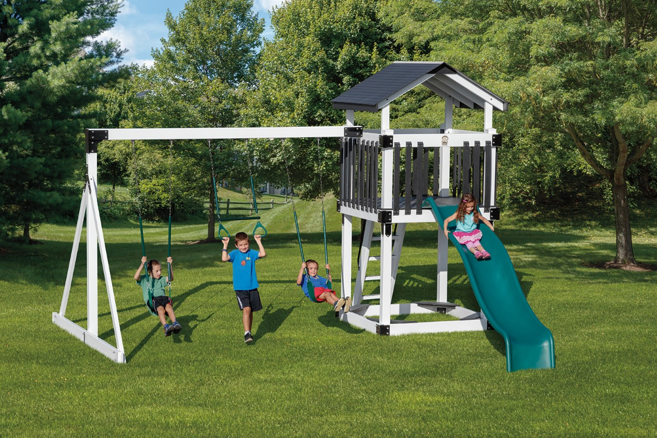 Amish Made Swing Sets Amish Swing Sets Playhouses For Kids