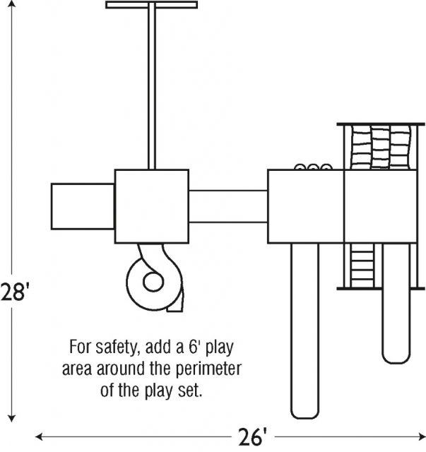 Diagram of good time tower package. Install this kids play set today.