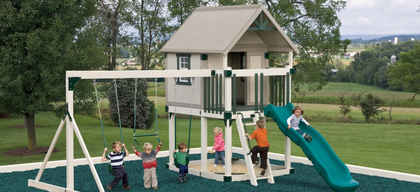 Happy Hideout swing set from Adventure World Play Sets