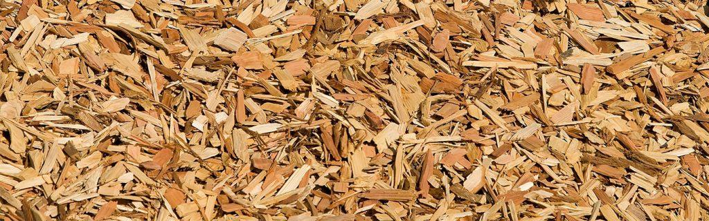 wood mulch on a playground