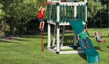 fireman's pole swing set accessory