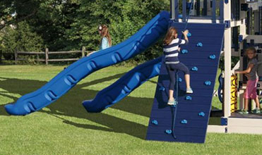 rock wall swing set accessory