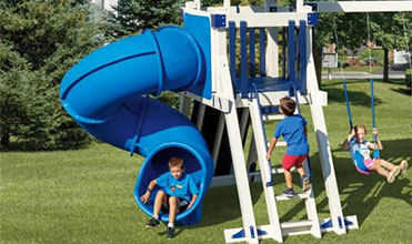 twisty slide swing set accessory