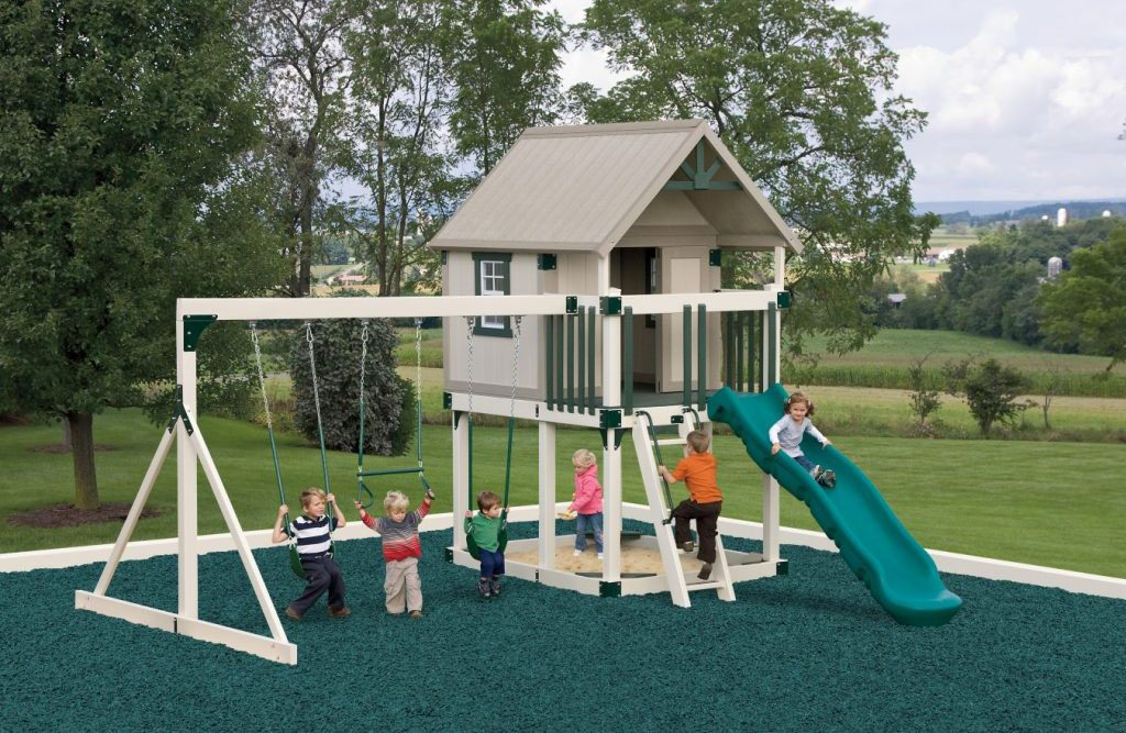 happy hideout swing set