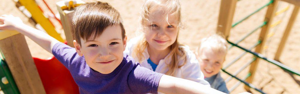 kids practicing playground safety