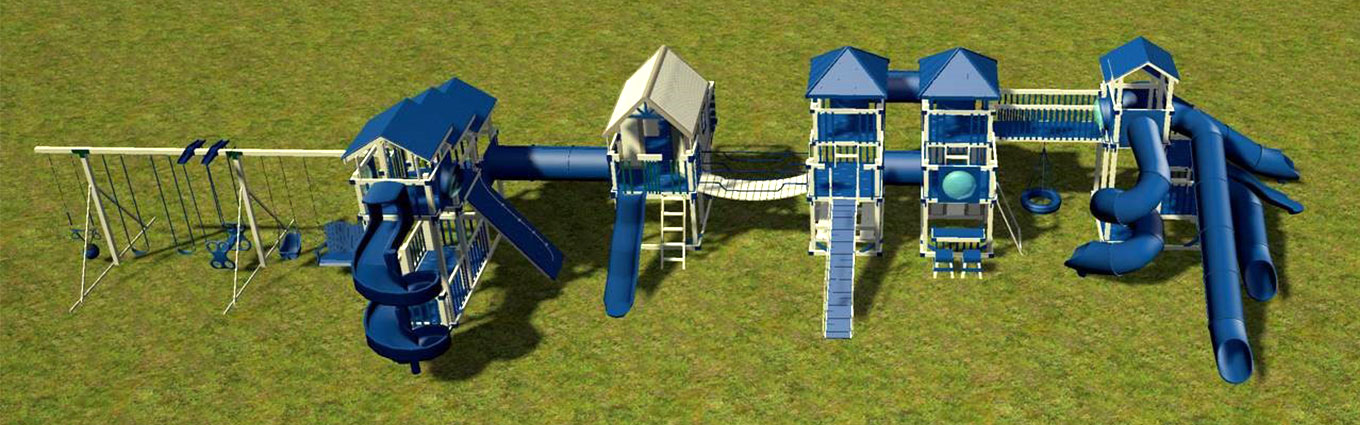 3d rendering of 90 foot playset