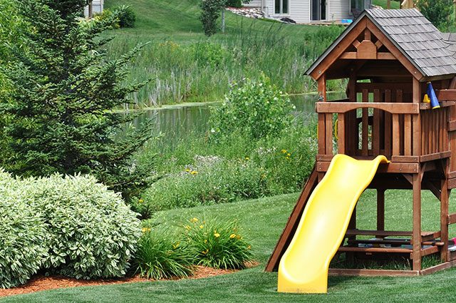 cheap wooden playset