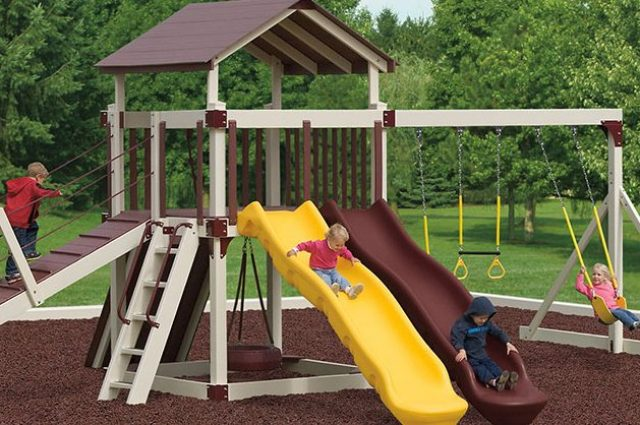 polish a plastic playground slide