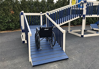 playset with adaptive wheelchair ramp