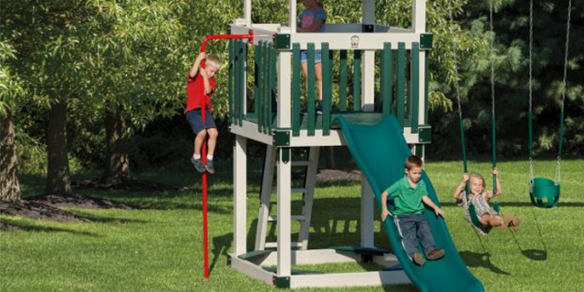 playset with firemans pole