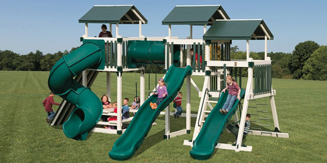 multi tower fort swing set add on
