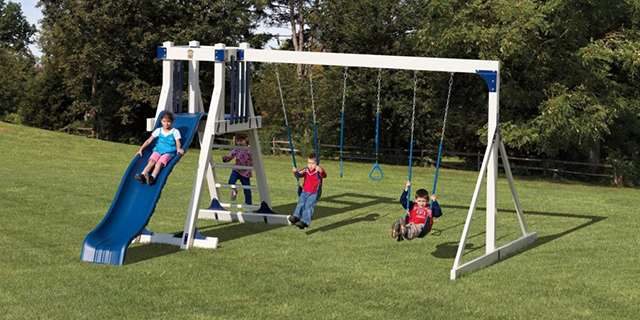 frolic zone fa33-2 small backyard swing set