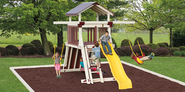 giggle junction ga55-2 playset for a small yard