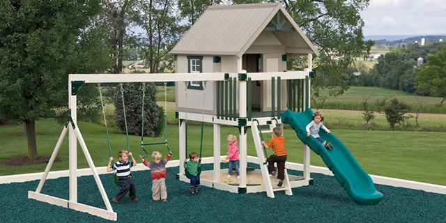 happy hideout h68-2 playset for a small yard