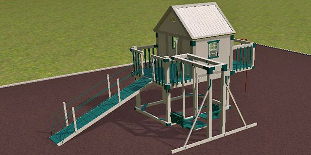 ultimate kids clubhouse on 3D playground design software