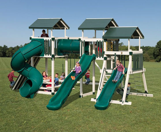 green and off white swing set color