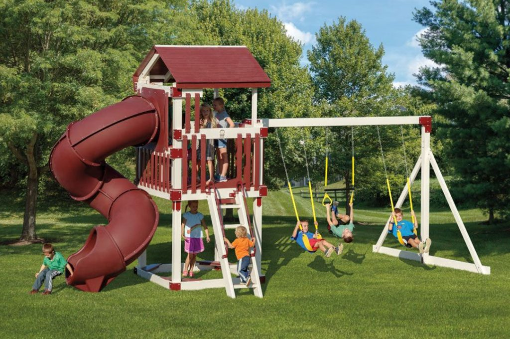busy basecamp swing set package