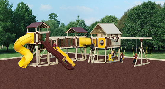 huge imagination station backyard playground