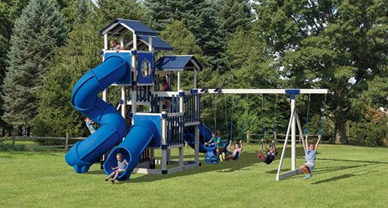 huge jolly jamboree swing set
