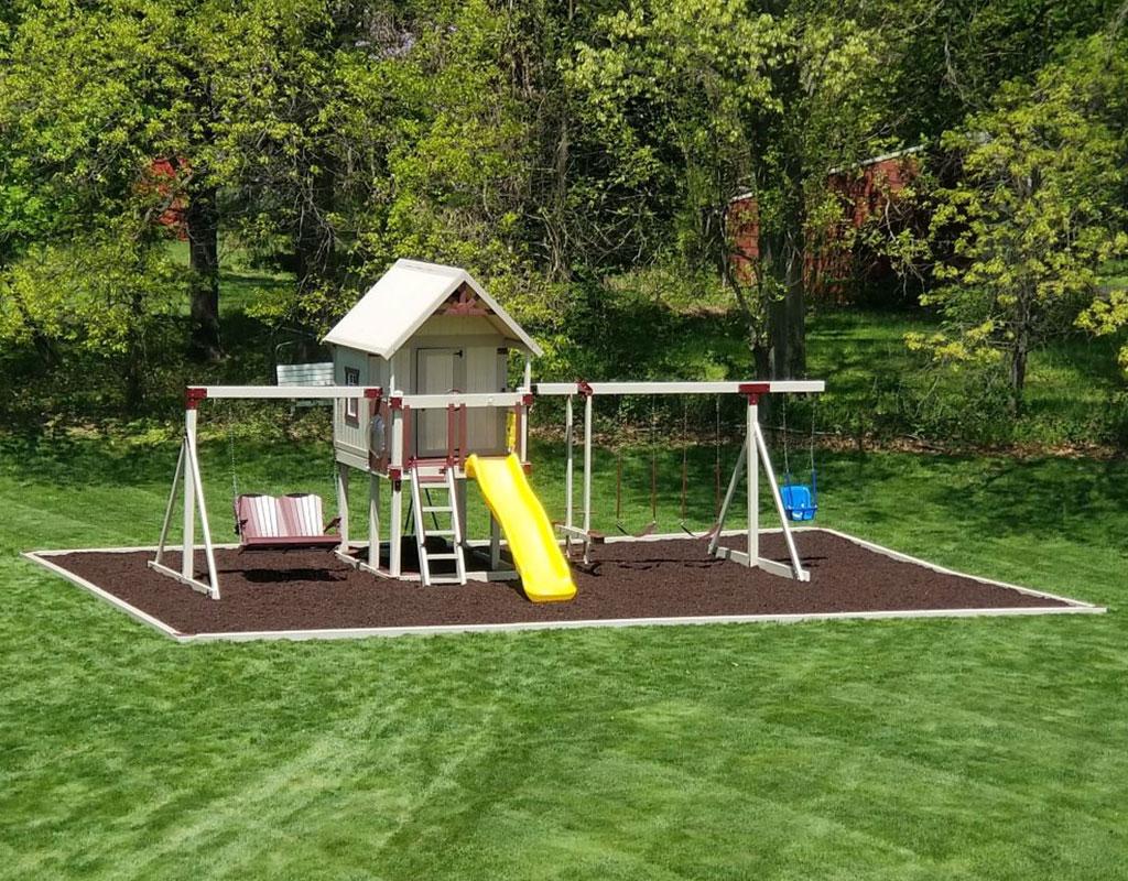 custom swing set playhouse combo