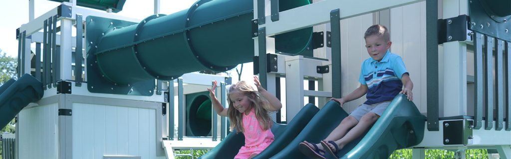swing set playhouse combo