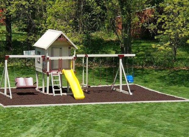 What is the Best Material to put Under a Swing Set?
