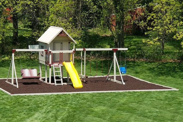 what is the best material to put under a swing set