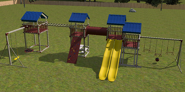 design your own athletic swing set plans