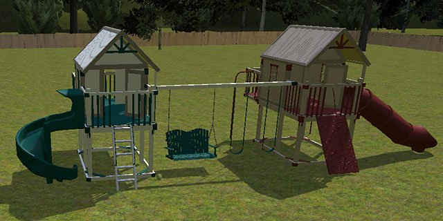 plans to build a brother-sister swing set