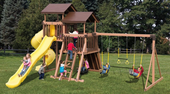 adventure world good time tower swing set