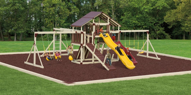 fantasy fortress swing set for 2-year-olds
