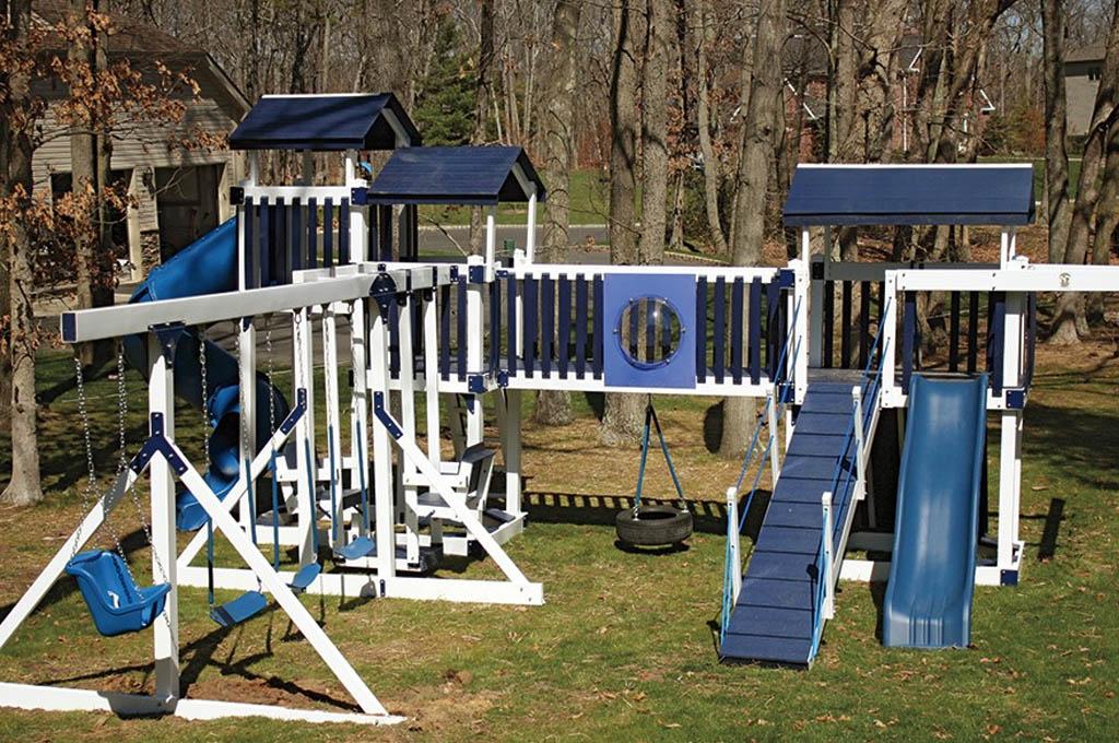 A custom swing set in South Carolina