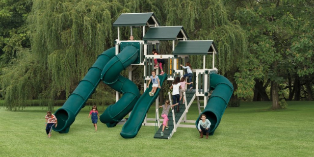 fantasy fortress playset with slides