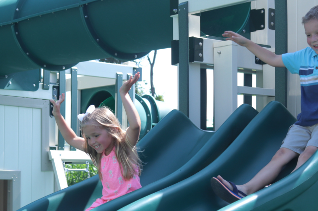 swing sets with slides